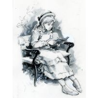 Portrait of a Reading Lady