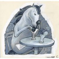 Horse in a Cafe