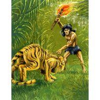 Mowgli and the Tiger