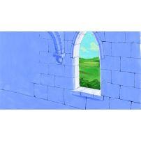 Castle Window overlooking Fields