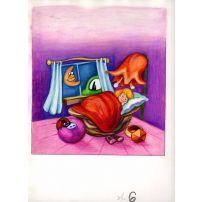 Thumbelina Asleep in her Walnut-shell Cradle
