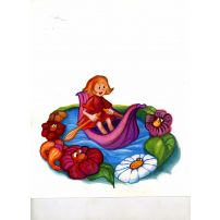 Thumbelina drifts on a Lily Pad