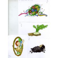 Assortment of Four Beautiful Illustrations